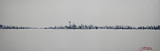 New York State Paintings - New York City Skyline 15x45-1 by Jack Diamond