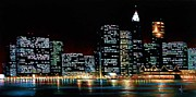 Wall Murals Painting Originals - New york city skyline 2 by Thomas Kolendra