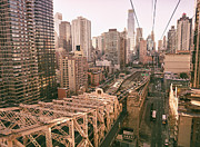 Manhattan Skyline Photos - New York City Skyline - Above the City by Vivienne Gucwa