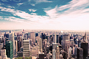 New York City Skyline Art - New York City - Skyline and Central Park by Vivienne Gucwa