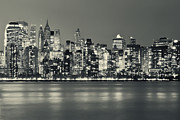 Sights Art - New York City Skyline at Night by Sabine Jacobs