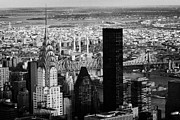 Manhatan Posters - New York City Skyline Chrysler Building Trump Tower Queens Poster by Joe Fox