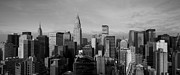 Black And White City Prints - New York City Skyline Print by Diane Diederich