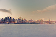 Nyc Skyline Framed Prints - New York City - Skyline Dreamscape Framed Print by Vivienne Gucwa