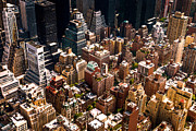 Skylines Metal Prints - New York City Skyline from Above Metal Print by Vivienne Gucwa