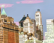 Tourist Attraction Digital Art - New York City Skyline by Pamela Briggs-Luther