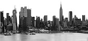New York City Skyline Photos - New York City Skyline Panoramic by Kathy Flood