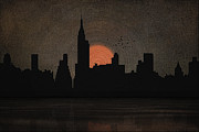 Usa Prints Digital Art Prints - New York City Skyline Print by Tom York