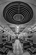 United States Of America Posters - New York City Subway Train BW Poster by Susan Candelario