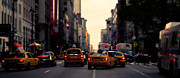 Thomas Richter Metal Prints - New York City - Taxi - cinematic Metal Print by Thomas Richter