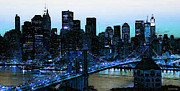 New York City Digital Art Metal Prints - New York City - The Big Apple Metal Print by Sharon Cummings