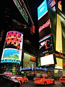 Police Metal Prints - New York City - Times Square 004 Metal Print by Lance Vaughn