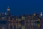Nightscapes Framed Prints - New York City Twilight Framed Print by Susan Candelario