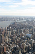 Skyline Photo Framed Prints - New York City - View From Empire State Building - 121221 Framed Print by DC Photographer