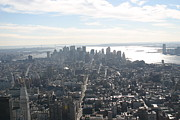 New York City - View From Empire State Building - 121222 Print by DC Photographer