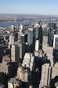 Skyline Photo Metal Prints - New York City - View From Empire State Building - 121229 Metal Print by DC Photographer