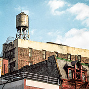 Urban Scenes Photo Metal Prints - New York City Water Tower 2 Metal Print by Gary Heller