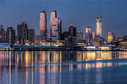 Landscapes Photo Prints - New York City West Side Morning Twilight III Print by Clarence Holmes
