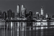 Intrepid Prints - New York City West Side Morning Twilight IV Print by Clarence Holmes