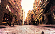 Escapes Framed Prints - New York Citys Stone Street Framed Print by Vivienne Gucwa