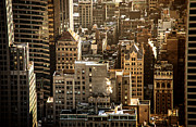 Nyc Photo Framed Prints - New York Cityscape Framed Print by Vivienne Gucwa