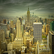 Roof Top Digital Art Prints - NEW YORK Colour Study No.1 Print by Melanie Viola
