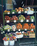 Fruit Stand Paintings - New York Curb Market by Blynn Pippen