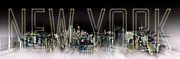 Panoramic Digital Art - NEW YORK Digital-Art No.2 by Melanie Viola