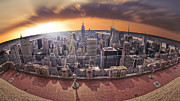Large Format Art - New York Eye - Lower Manhattan by Marshall Bishop