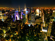 Skylines Photos - New York - From the Empire State Building 003 by Lance Vaughn