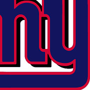 Pop Icon Mixed Media Posters - New York Giants Football 2 Poster by Tony Rubino