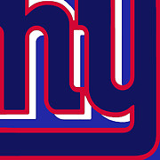 Icon Mixed Media Posters - New York Giants Football 3 Poster by Tony Rubino