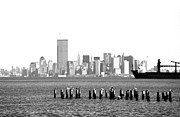 Old And New Prints - New York Harbor 1990s Print by John Rizzuto