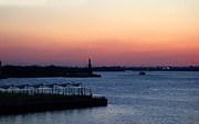 Diane Lent - New York Harbor at Sunset