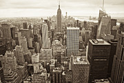 Black Top Posters - New York in Black and White  Poster by John McGraw