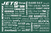 New York Jets Prints - New York Jets Print by Jaime Friedman