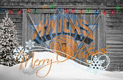 Christmas Greeting Photo Framed Prints - New York Knicks Framed Print by Joe Hamilton