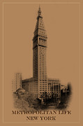 Met Prints - New York Landmarks 2 Print by Andrew Fare