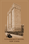 Vanderbilt Prints - New York Landmarks 6 Print by Andrew Fare