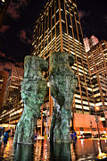 Bronze Sculpture Prints - New York - Looking Toward the Avenue Print by Paul Ward