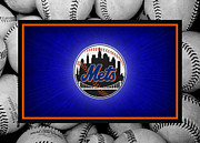 Outfield Prints - New York Mets Print by Joe Hamilton