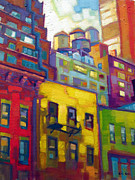 Brilliant Paintings - New York Mintue by Caleb Colon