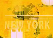 Industrial Mixed Media Prints - New York Minute Pop Art Print by Anahi DeCanio