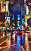 Famous Paintings - New York by Mo T