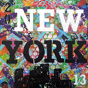 New Ideas Paintings - New York by Natalie Medina