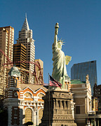 Las Vegas Photo Prints - New York New York Casino Las Vegas Nevada Print by Edward Fielding