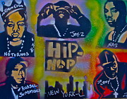 Stencil Art Paintings - New York New York too by Tony B Conscious