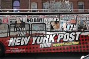 Allen Beatty Art - New York Post Tour Bus by Allen Beatty