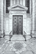 Stephen A. Schwarzman Building Framed Prints - New York Public Library Entrance II Framed Print by Clarence Holmes