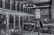Book Stacks Prints - New York Public Library Genealogy Room II Print by Clarence Holmes